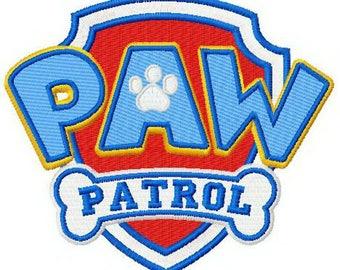 Paw Patrol logo embroidery design