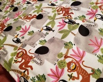 Monkey Swaddle Blanket