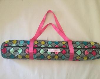Patterned Canvas Yoga Mat Bag