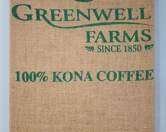 Greenwell (Kona, Hawaii) Coffee Bag Wall Hanging