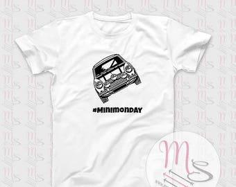 Mini Monday T Shirt, Perfect for any Mini Lover!  TShirt, Top, Mini