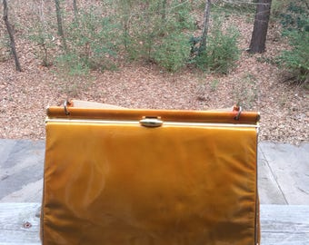 1960s patent leather bag