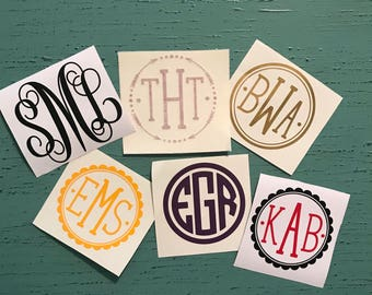 SALE HALF OFF Monogram Decal/Yeti Sticker **please Add style number and monogram letters during checkout**