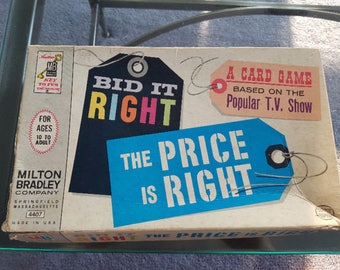 Milton Bradley 1964 Bid it Right - The Price is Right Family Card Game