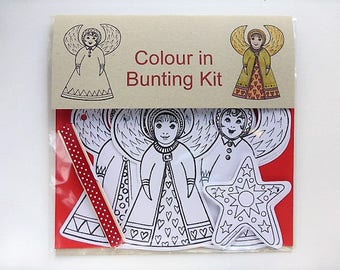 Festive colour in Christmas Angel Bunting Kit