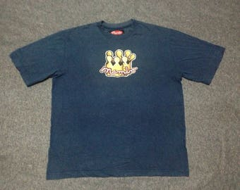 RARE!! Vintage 90s Mambo Moral Fibre skateboarding/surfing Made in Australia Fit Size L