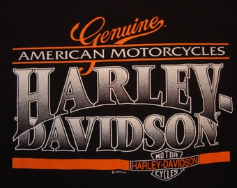Vintage 90's Harley-Davidson Motorcycles San Jose, CA Black 1995 T Shirt Size XL