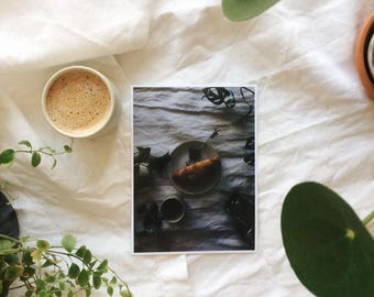 Print of a slow easy cozy early morning