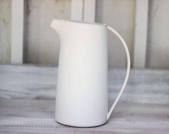 White serving pitcher