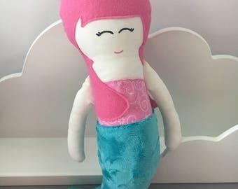 Mermaid Rag Doll *Ready to Ship*