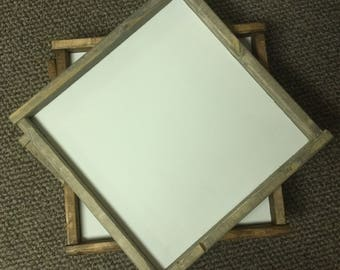 9 by 9 inch -Blank signs -framed -make your own paint yourself-blank wood diy signs- rustic signs custom signs