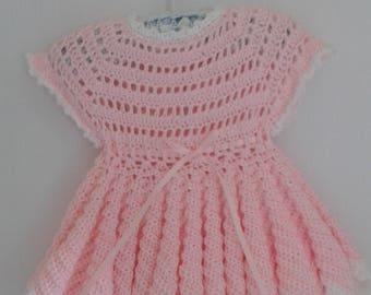 Babys first crochet dress