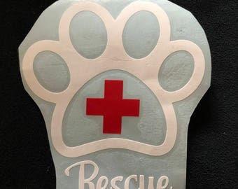 Animal rescue car decal