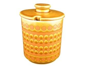 Saffron  By Hornsea Lidded Preserve/Sugar pot