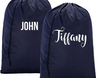 Personalized Laundry Bag | Monogrammed Laundry Bag |  Laundry Bag - Gifts for Her | Gifts for Him | Graduation Gifts