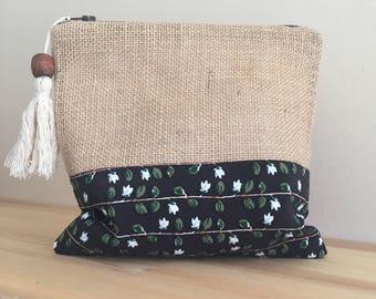 Vintage Makeup Bag/Vintage Cosmetic Bag/Vintage Handbag/Vintage Chic Bag/Vintage Floral Clutch Bag