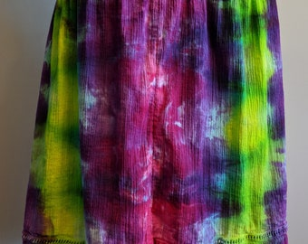 Rainbow tie-dyed mini skirt size large