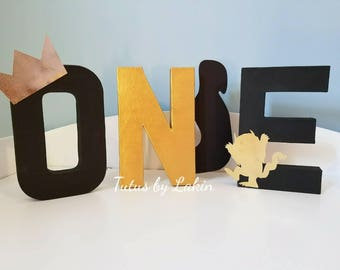 Where the Wild Things Are ONE letter props