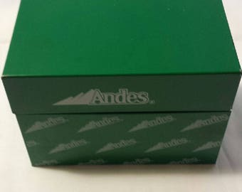 Vintage Andes Candy Recipe Box