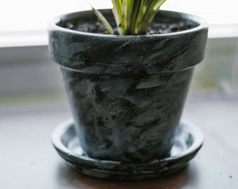 Hand-Painted Indoor Plant Pot (Small)