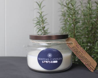 Be Well - Day to Day - organic soy candle 8oz - handpoured aromatherapy natural candle- apothecary jar- essential oil