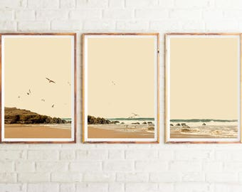 Coastal Print Set, Set of 3 Wall Art, Triptych Wall Art, Beach Prints, Coastal Wall Art, Printable Art, Home Decor, Beach Art, Art Print
