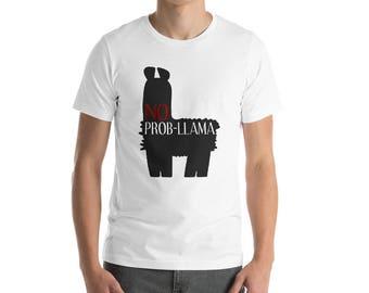 No Prob Llama Cute Funny Llama Alpaca Lover T-Shirt