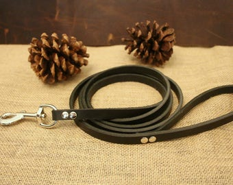 Black Leather Leash