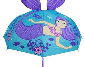 Cute Cartoon Mermaid Children Umbrella