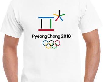 PyeongChang 2018 Olympic Winter Games New Men's T-Shirt Tee