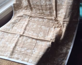 NEW! Beige, light weight, baby blanket.