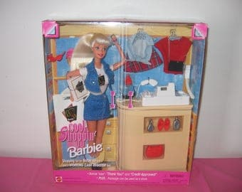 1997 Cool Shoppin' Barbie - 1990s Collectible Barbies - 1997 Shopping Barbie Doll With Cash Register Barbie Talks