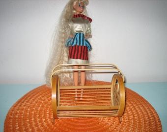Vintage Barbie Doll Furniture - Doll Furniture Magazine Rack -Bamboo Magazine Rack For Fashion Dolls