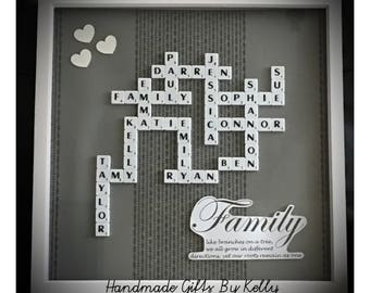 Personalised Scrabble Frame Perfect for Christmas/Birthday gift