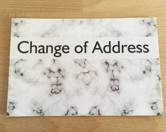 Marble Change of Address Cards, Marble Print, Pack of Moving Cards, Moving Announcement, Change of Address, New Home, New Address, Marble