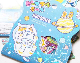 Space cats astronauts bling bling sticker pack 71 pcs