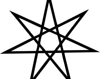 Seven Pointed Star Vinyl Decal