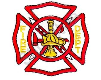 Fire Department - Machine Embroidery Design, Maltese Cross