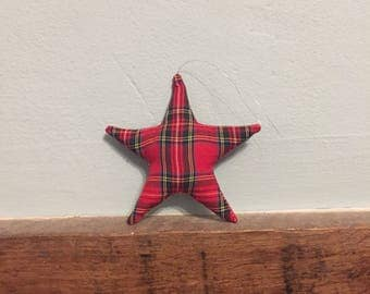 Tartan Star Christmas Tree Decoration