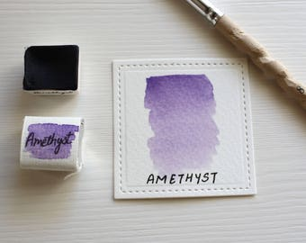 Amethyst- Handmade Watercolor