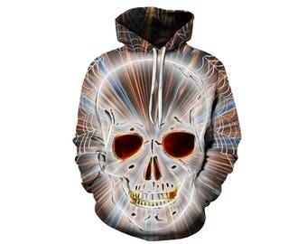 Skull Hoodie, Skull, Skull Hoodies, Skull Prints, Scalp Hoodie, Gothic, Skeleton, Skulls, Scalp, Hoodie, 3d Hoodie, 3d Hoodies - Style 4