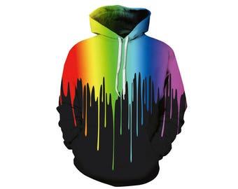 Paint Splat, Paint Hoodie, Painted Sweatshirt, Painting Clothes, Hoodie Art, Hoodie Pattern, Pattern Hoodie, Hoodie, 3d Hoodie - Style 10