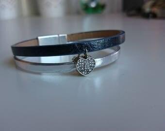 Heart 2 rows bracelet