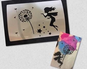 Fairy Dandelion Stencil