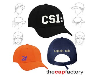 Personalised Embroidered Caps Custom Gift Name Wedding Party Weekend
