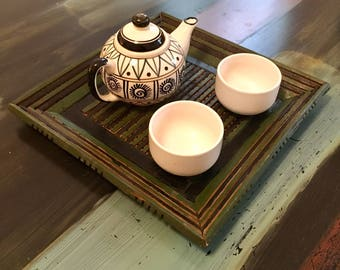 Wooden Tray, Breakfast Tray, Rustic Tray, Birthday Gift, Christmas, Housewarming