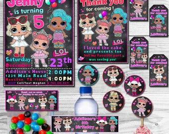 LOL Surprise Birthday Pack, LOL Surprise Pack, LOL Surprise Themed Party Pack, Lol Surprise, Lol Surprise Dolls Pack