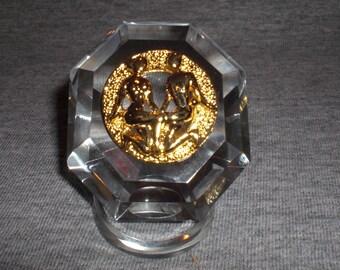 Gemini - miniature collectible crystal figurine