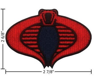 GI Joe Cobra Embroidered Iron On Patch