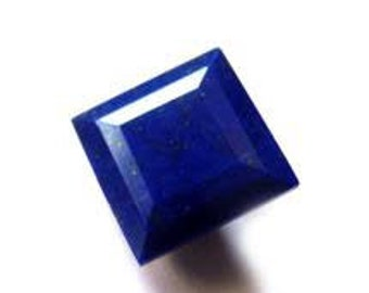 10 Pieces lapis lazuli  faceted square shape gemstone